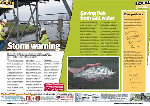 articles for environment agency fishing magazines
