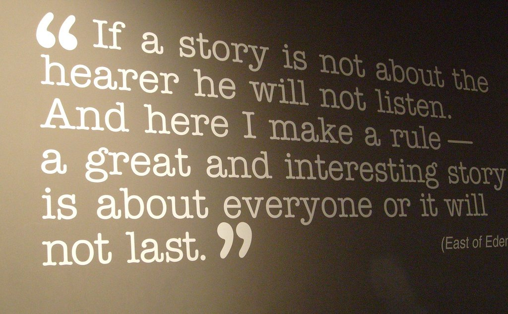 The power of story: photo by Jill Cardy