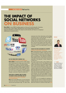 Article on social media for corporate magazine