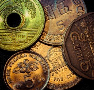 five coins